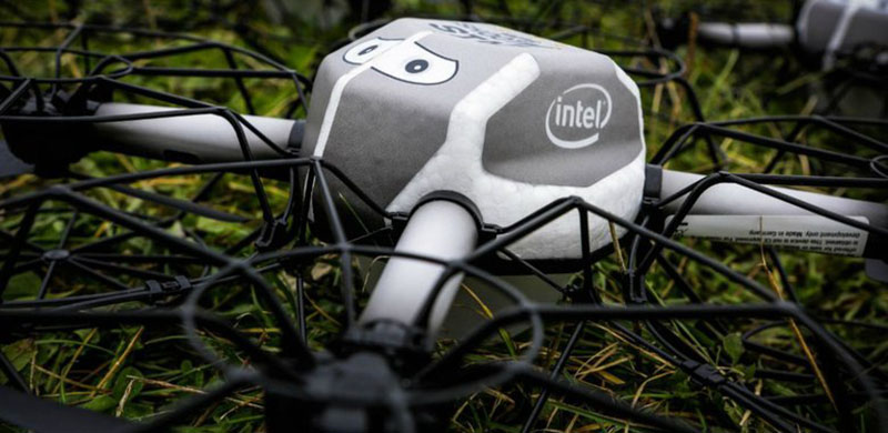 Intel 500 Drone Display